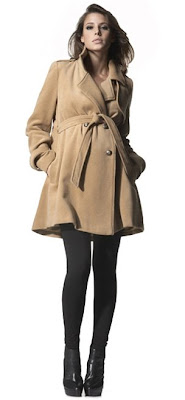 Maternity Woolen Trench