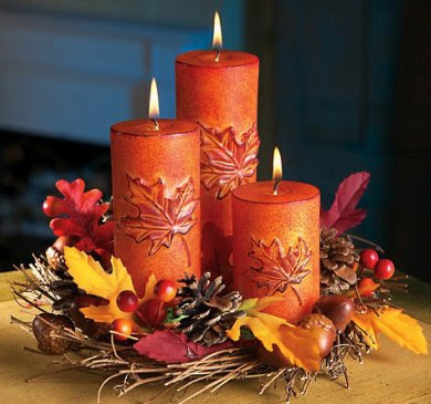 Add whimsical touch to home with thanksgiving decor items for Thanksgiving centerpieces with candles