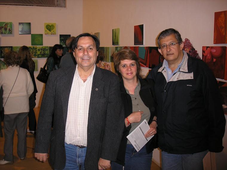Cali y expositores de Tucuman. MónicaVallejo y Jorge Alvarez Pieroni