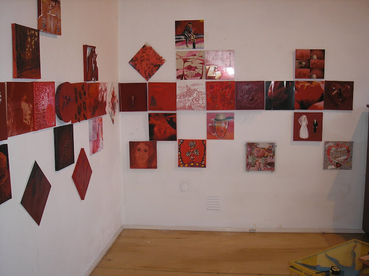 Vista parcial rojo de amor