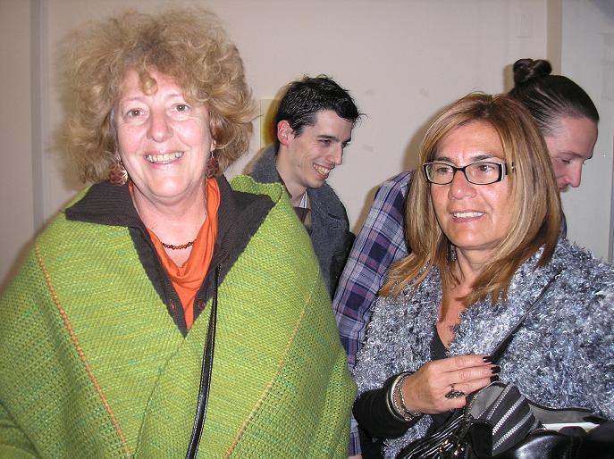 Susana Stamatti y Laura Amarilla, ambas expositoras