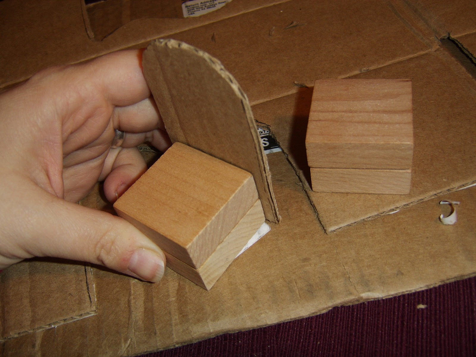 Stringer mama diy dollhouse day 3 for How to make a dresser out of cardboard