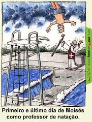 Ser professor de natação não é para todos....