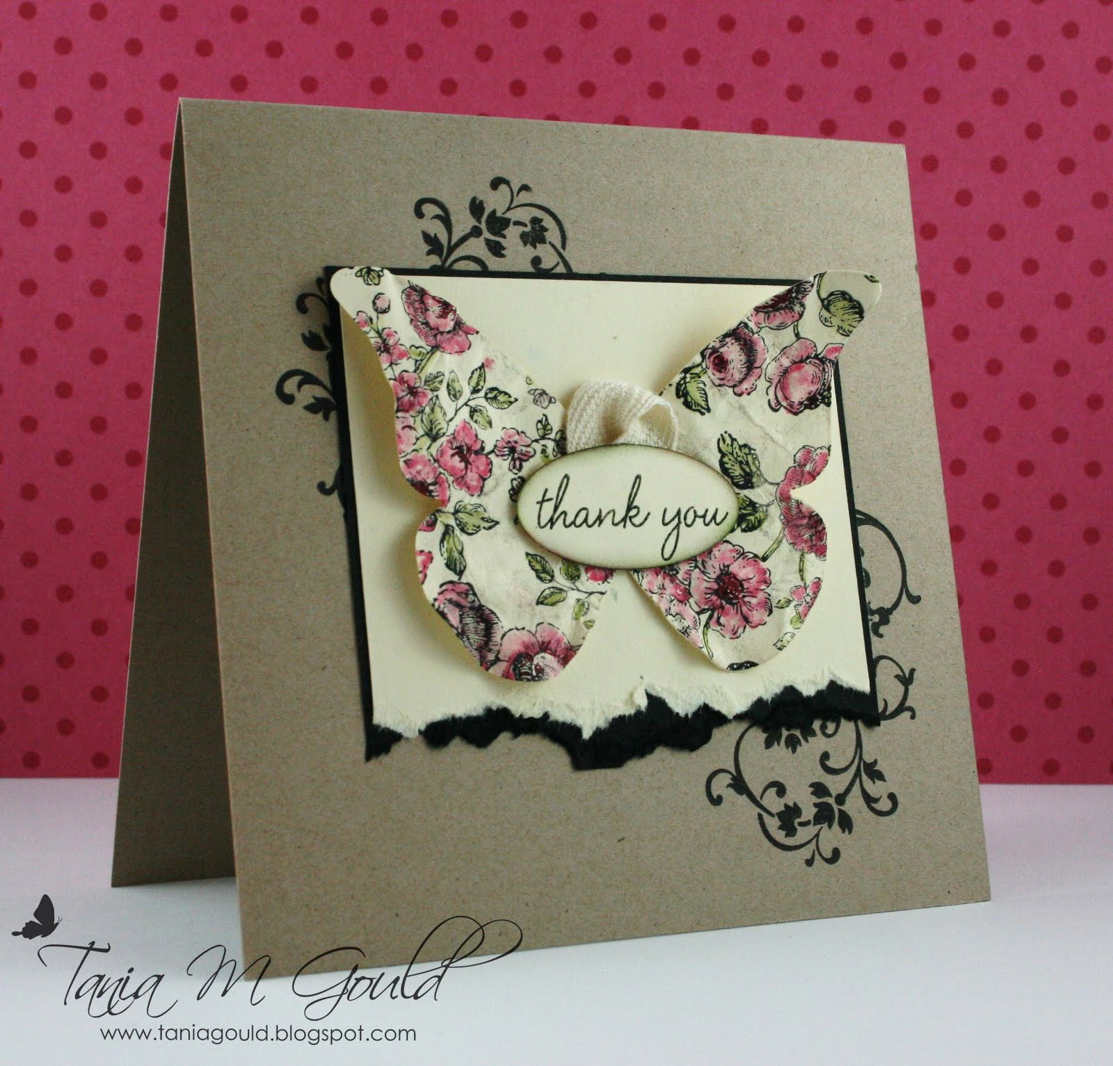 Tania m gould elements of style butterfly for Stampin pretty craft room