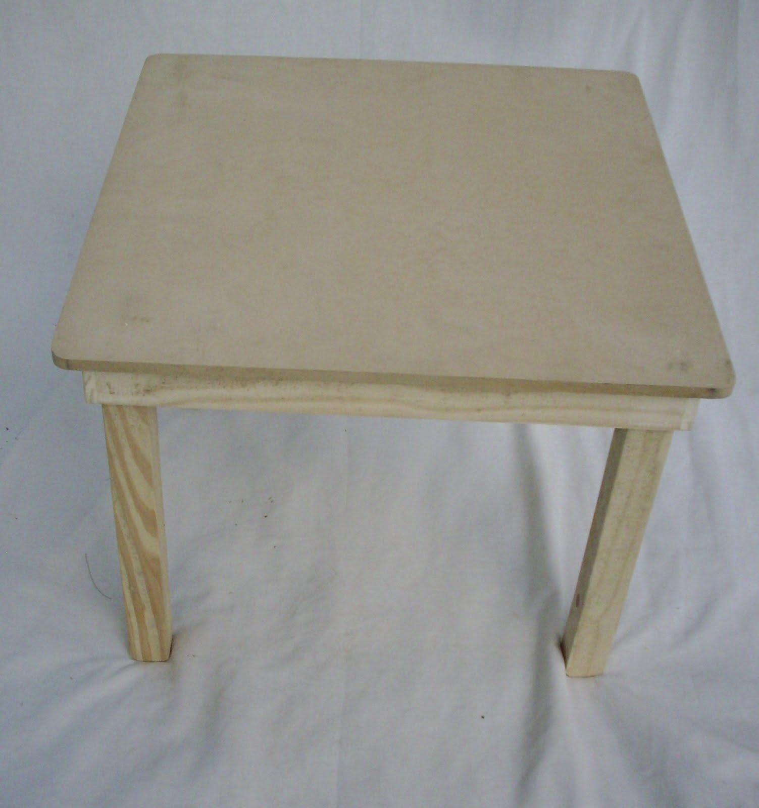 Jr mesas y sillas parachicos mesa de pino y fibrofacil - Mesa de pino ...