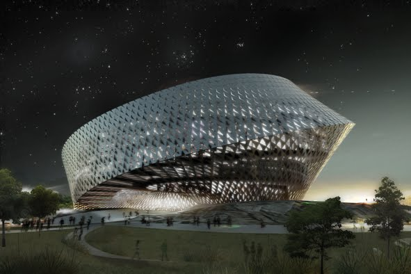 Kazakhstan's National Library designed as a Moebius Strip