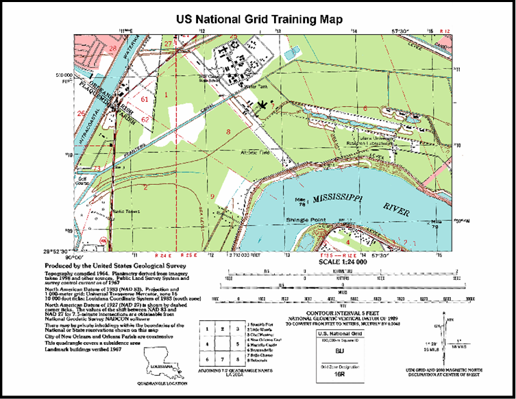 Northing Easting Things Of Global Importance The US National Grid - Us national grid index map