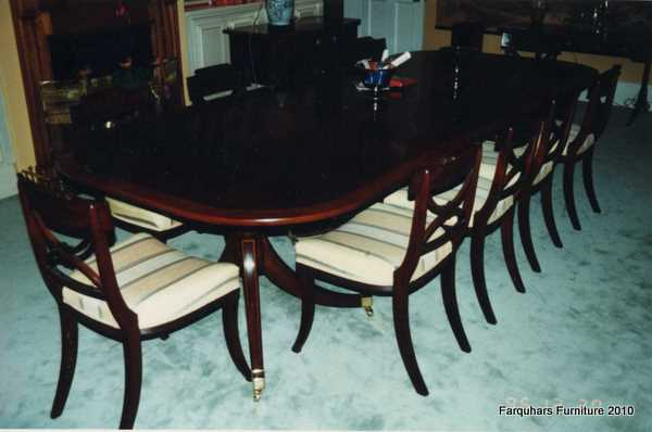 Incredible  seat dining chairs and Regency mahogany twin pedestal dining table 600 x 398 · 21 kB · jpeg