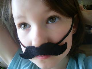 mustache diy