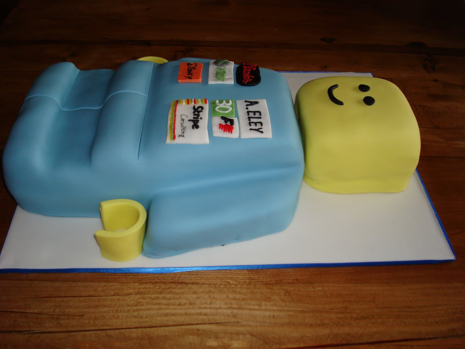 Lego Man Birthday Cake Tin