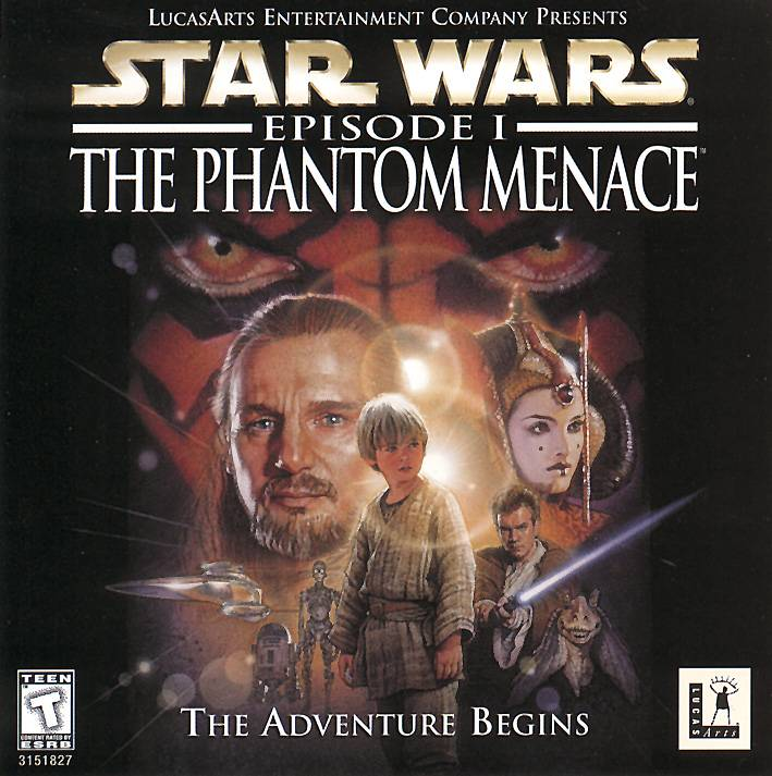 starwars the phatom menace game cover