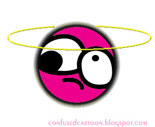 confused cartoon faces the pink face of confused cartoon