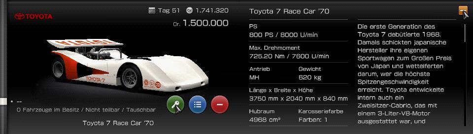 psp fuhrpark toyota 7 race car 39 70. Black Bedroom Furniture Sets. Home Design Ideas
