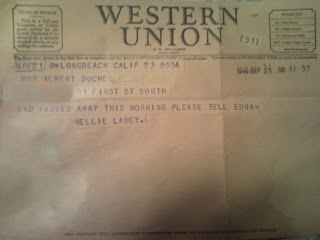 Western Union message 1946