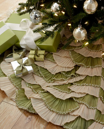 Knitting Pattern For Short Row Christmas Tree Skirt