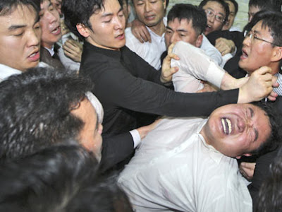Brawl, South Korean parliament 2012