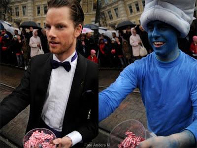 Smurf, kostymkille, chalmerskortegen, chalmers cortege, cortegen, foto anders n