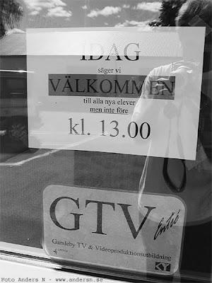 GTV, Gamleby, Folkhögskola, TV, Video, Utbildning