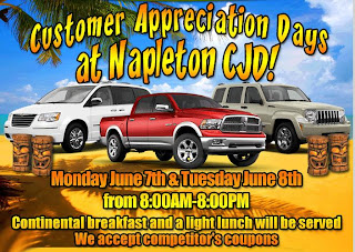 Customer Appreciation Day are here at Napleton CJD, your Automotive Dealer in Kissimmee, Florida