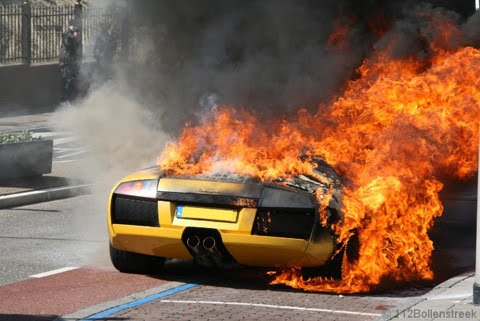 Lamborgini burnt out