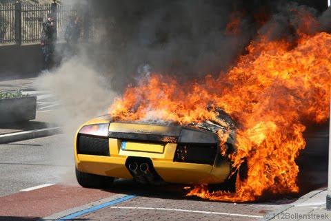 Lamborgini burnt out