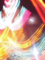 lights of a ride at the Mid-South Fair, Memphis