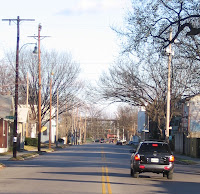 looking east down Young Street toward the Fairgrounds, Cooper-Young, Memphis