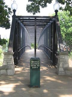 Bridge between Ashburn-Coppock Park and South Bluff