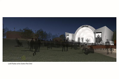 a visualization of the Levitt Shell at Overton Park