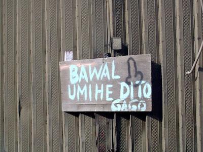 Angry notice, bawal umihe dito gago