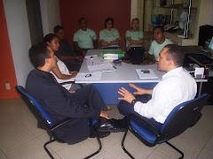 Reunião com os profissionais do NAPSS