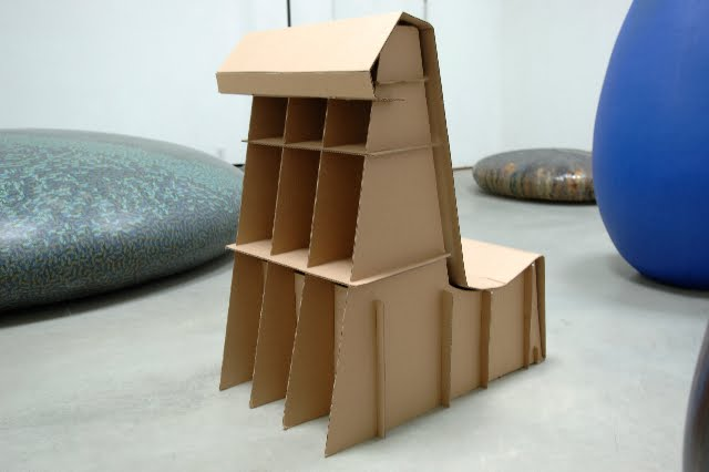 Cardboard chair eric lakin tomi mizuno and i designed the chair
