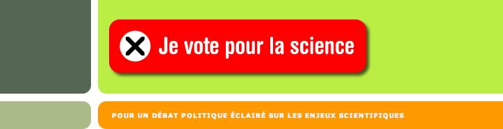 Je vote pour la science