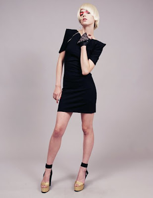 Sold out Blak strong shoulder dress from Pixie Market @ Dream Sequins