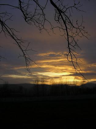 Puesta de sol en Villarcayo (Burgos)
