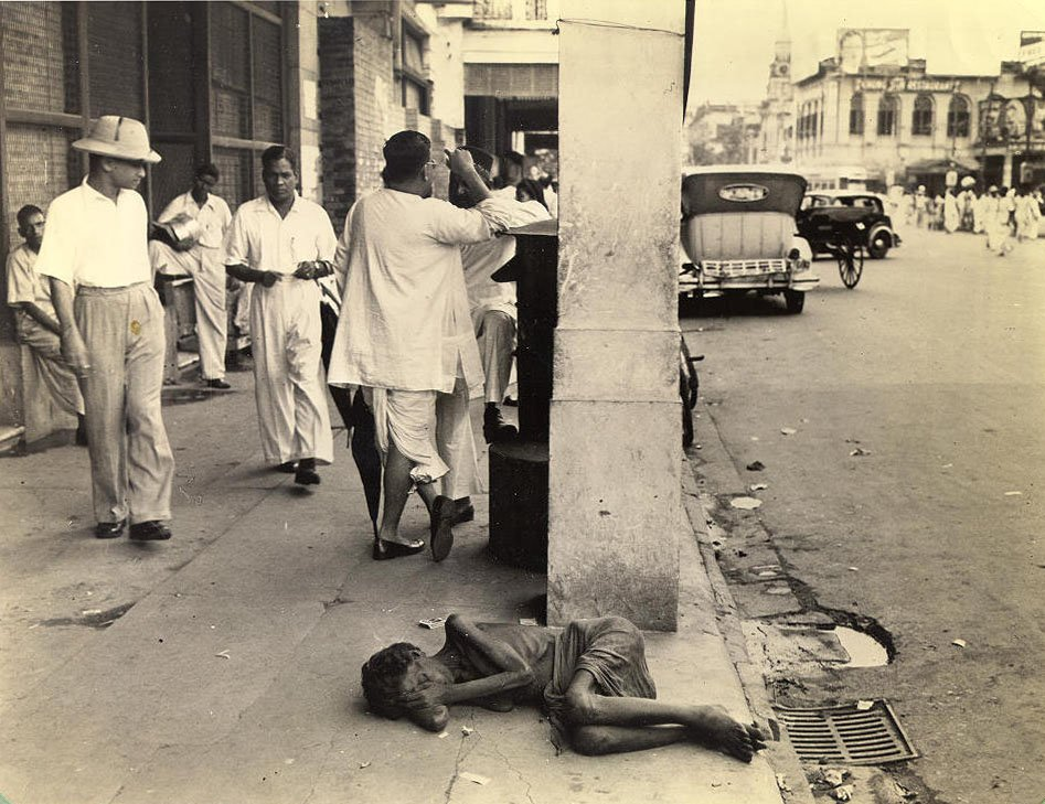 dying woman calcutta 1945