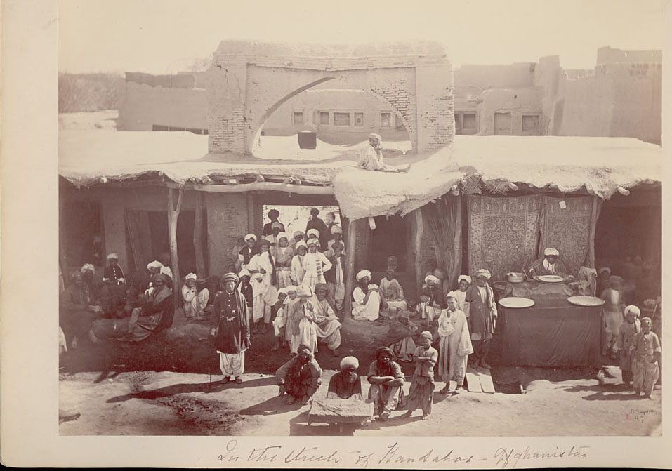 Group of Pashtun Men and Boys - Afganistan 1880s