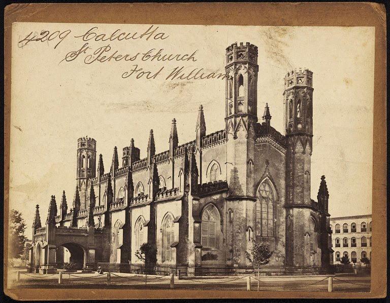 St. Peters Church Fort William Calcutta (Kolkata) - Mid 19th Century