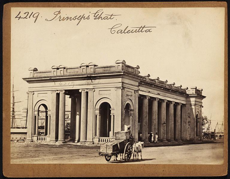 Prinsep's Ghat Calcutta (Kolkata) - Mid 19th Century