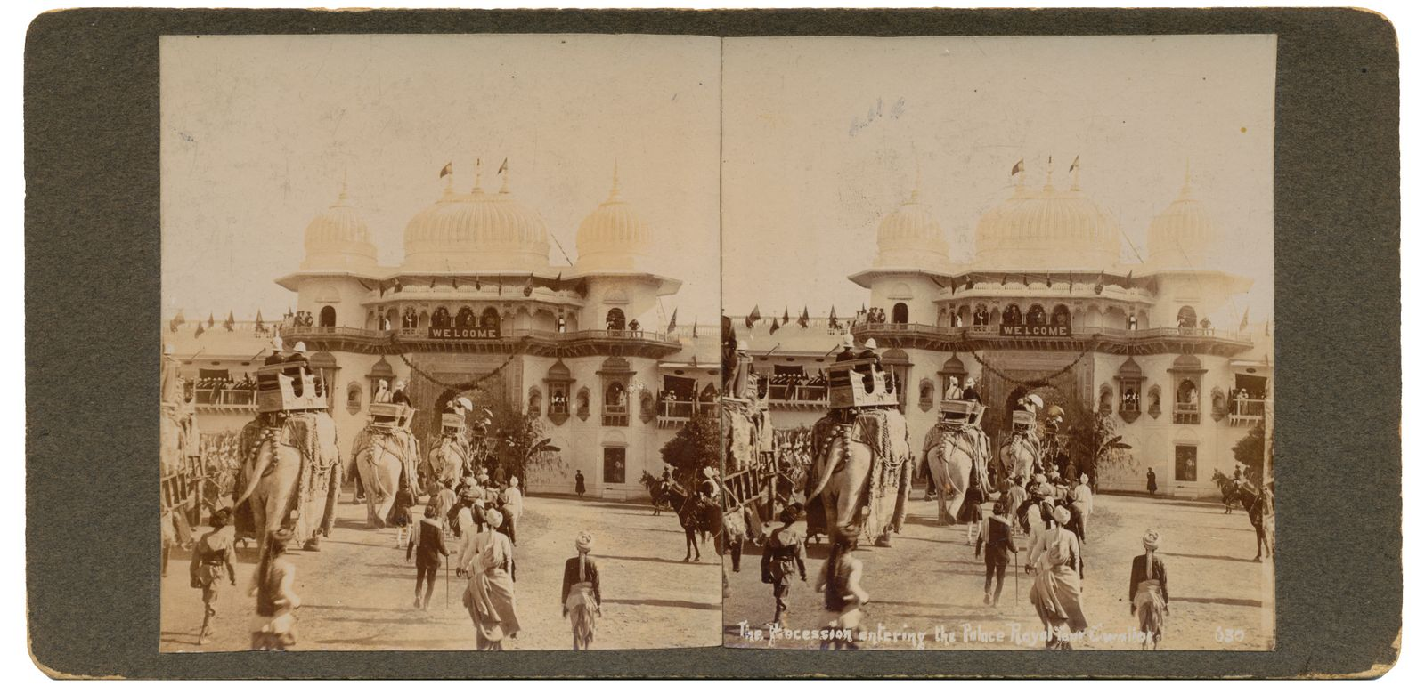 The procession entering the Palace Royal Tour Gwalior