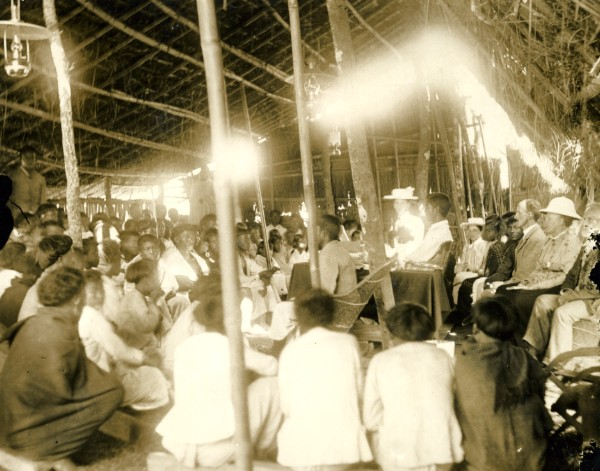 Mission House Worshipping - Assam  India 1930's