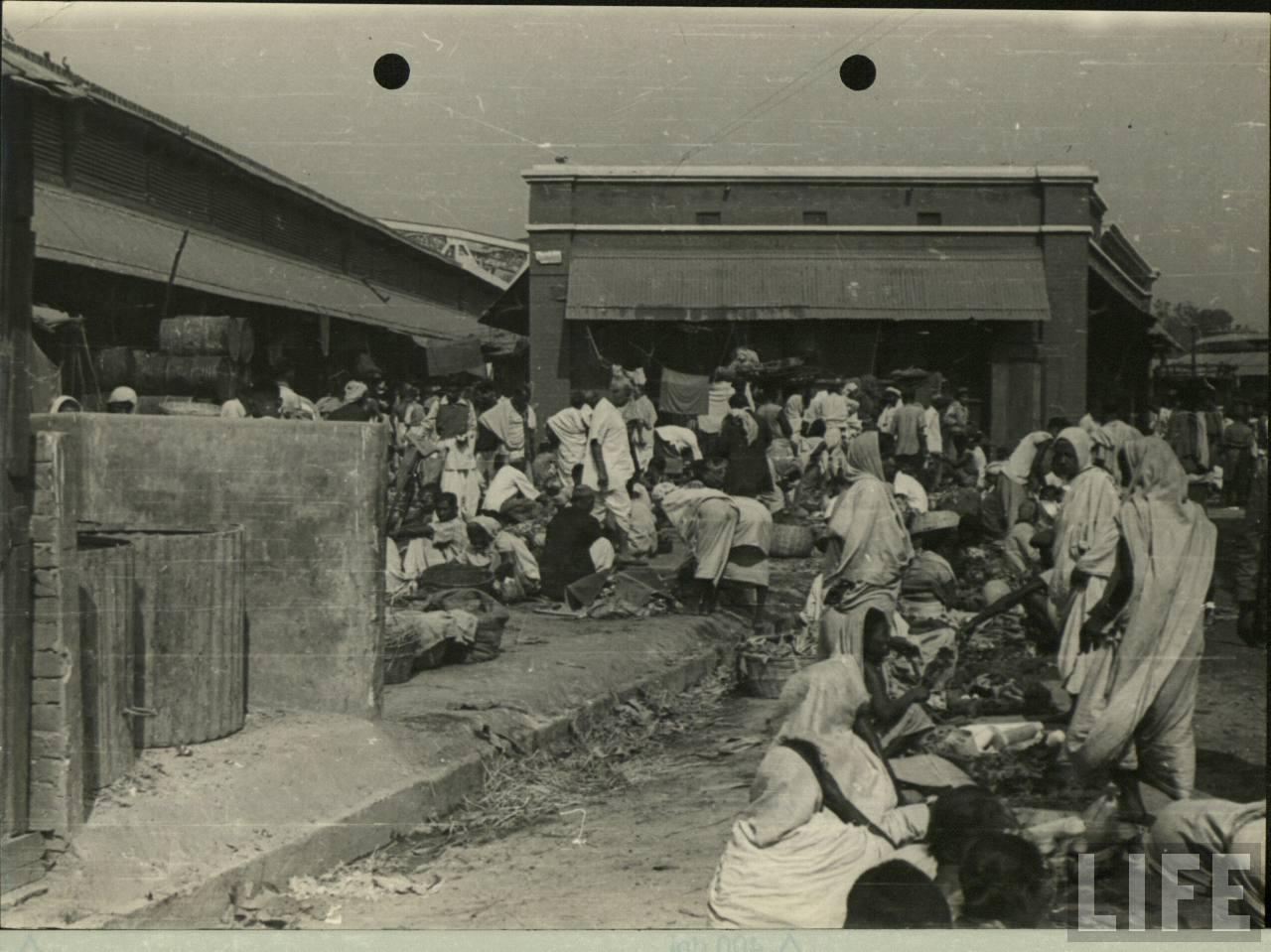 A Busy Indian Bazaar (Market) Scene