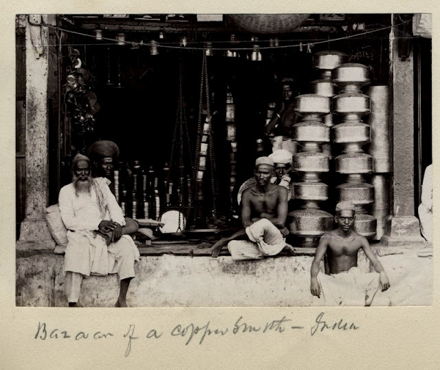 c.1880%2527s+PHOTO+INDIA+BAZAAR+OF+A+COPPER+SMITH