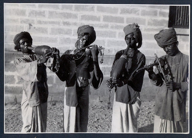 India+Etnological+Photo+Junagadh+Musicians+1935