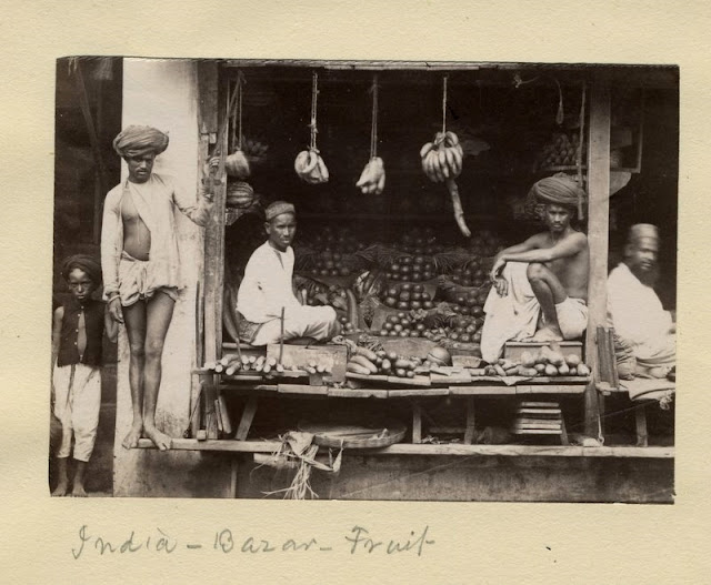 c.1880%2527s+PHOTO+INDIA+FRUIT+BAZAAR