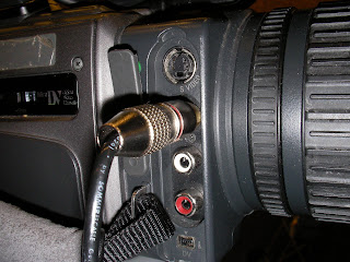 composite cable connections on church video camcorder