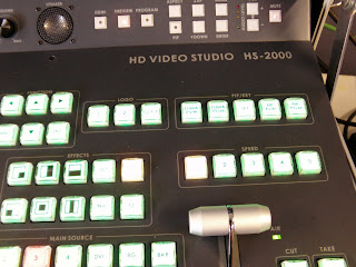 close up of church HD mixer production system