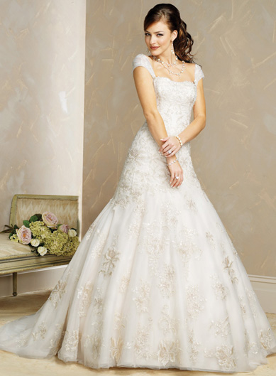 gorgeous wedding dress gorgeous cap sleeve wedding dress On wedding dresses with capped sleeves