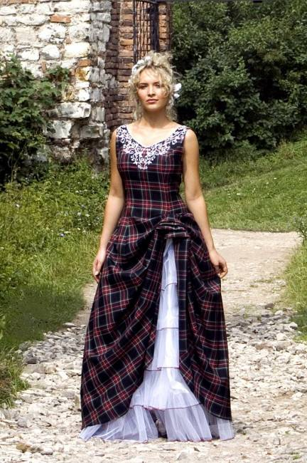 Gorgeous Wedding Dress Tartan Wedding Dress