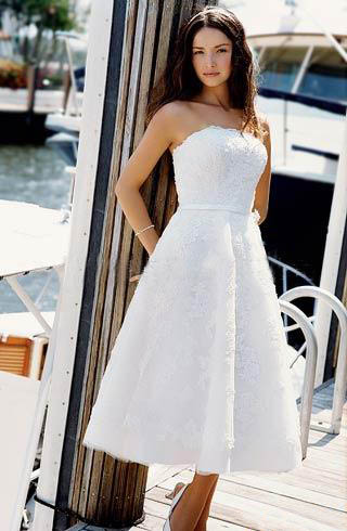 beach wedding dress lace Deep v neck beach wedding dress with double straps